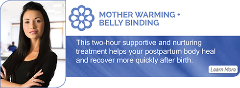 postpartum mother warming + belly binding