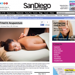 San Diego Magazine – I Tried It: Acupuncture