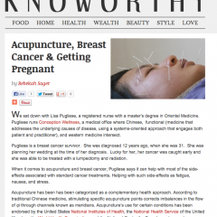Knoworthy – Acupuncture, Breast Cancer & Getting Pregnant